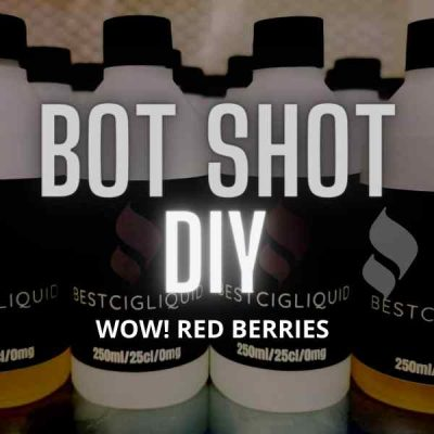 WOW! Red Berries Bottle Flavour Shot E-liquid (Strawberry, Raspberry, Cranberry)